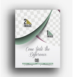 Cup cake back front flyer template vector
