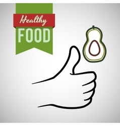 Healthy food design organic food flat vector