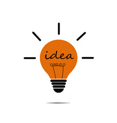 Crative idea in bulb shape as inspiration concept vector