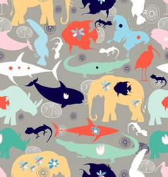 texture of different wild animals vector image