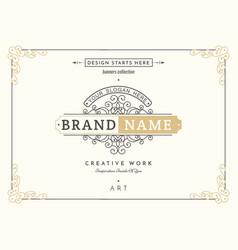 monogram creative cards vector image