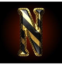 Golden and black letter n vector