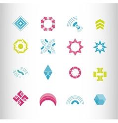symbol elements set for web design vector image