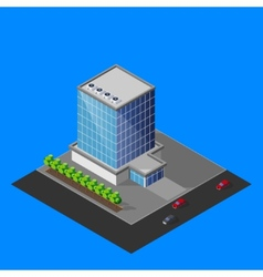 Isometric business center building vector
