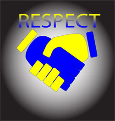 Respect shaking hands vector