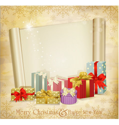 vintage holiday invitation vector image