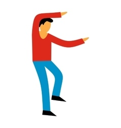 Best dance flat symbol vector