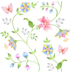 Decor seamless floral vector