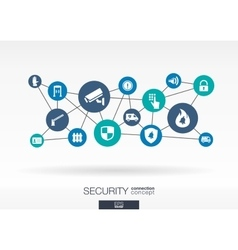 Security network growth abstract background with vector