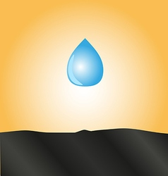 Drop of water falls to the ground vector