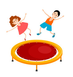 abstract cartoon of a bright colored trampoline vector image vector image