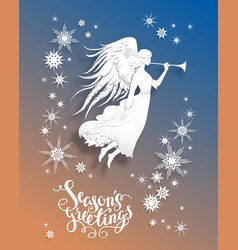 angel holiday card vector image vector image