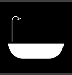Bath it is the white color icon vector