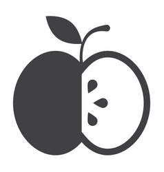 Black apple icon vector