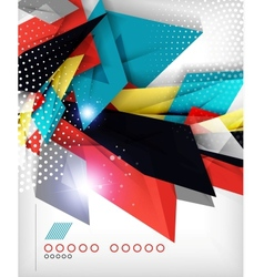 Business geometric shape abstract background vector