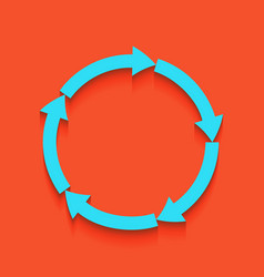 circular arrows sign whitish icon on vector image vector image