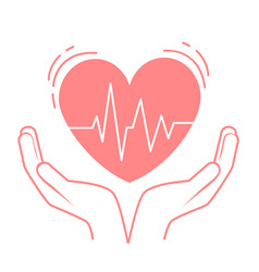 concept of treatment heart vector image vector image