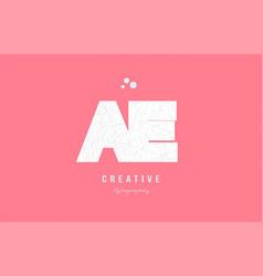 Design of alphabet letter logo ae a e combination vector