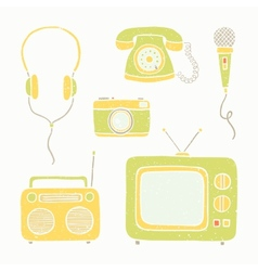 Emtertainment appliances and accessories vector