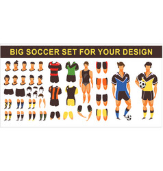 Football set for animation vector