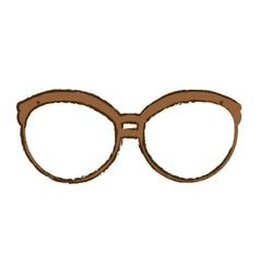 Glasses vintage frame icon image vector