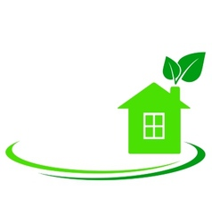 green leaf and house vector image vector image