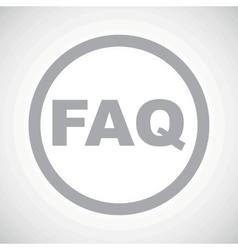 Grey faq sign icon vector