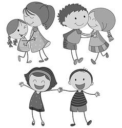 Hugging vector image
