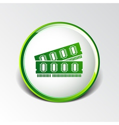 Icon of memory chip ram hardware rom power vector