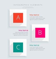 Infographic steps business template vector