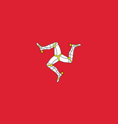 isle of man national flag vector image