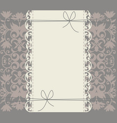 luxury lace frame with floral ornament vector image vector image
