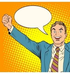 Man victory joy vector image
