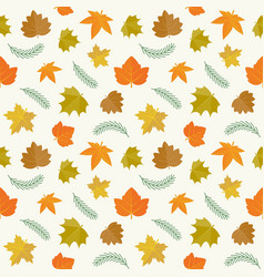 maple leave seamless pattern vector image