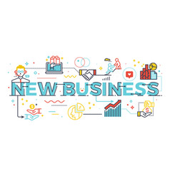 new business word vector image vector image