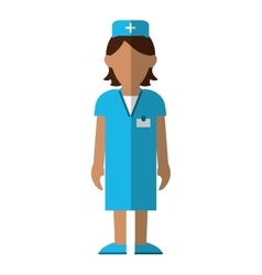 Nurse staff care clinic uniform hat cross vector