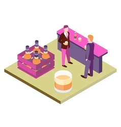 Office Workers At The Bar vector image