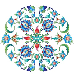 Ottoman art flowers twelve vector