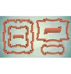 Set of vintage ribbon frames vector image vector image