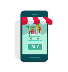 smartphone online store concept of e vector image vector image