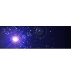 Space background with blue light from behind vector image