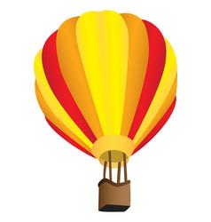 Stripy hot air balloon vector