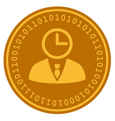 Time manager digital coin vector