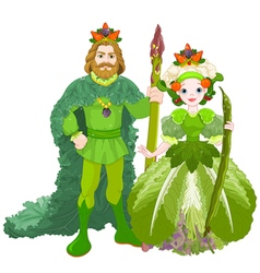 Vegetable the royal couple vector