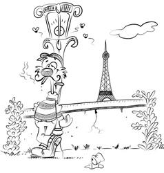 Romantic Paris vector image