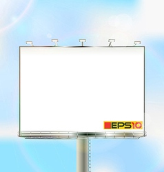 Billboard on a sunny sky vector
