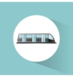 Bullet train vehicle and transportation design vector