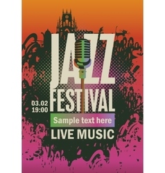 Jazz festival an microphone vector
