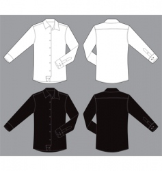 Men long sleeves business shirt vector