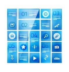 Modern glass geometrical design template vector image